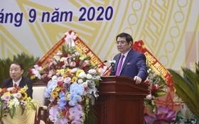 中央組織部長范明政在會上發表講話。(圖源:PV)