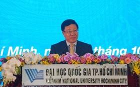 政府副總理范平明在典禮上發表講話。(圖源:VOH)
