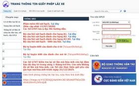 越南陸路總局肯定,gplx.gov.vn是越南陸路總局唯一提供駕照、駕駛者違規資訊查詢服務的合法網站。(圖源:網站截圖)