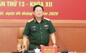 國防部長吳春歷大將主持會議並發表講話。(圖源:阮鵬)