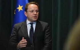 歐盟委員會負責睦鄰擴大事務委員沃爾海伊。(圖源:新華社)