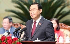 王廷惠同志在會上發表講話。(圖源:越通社)