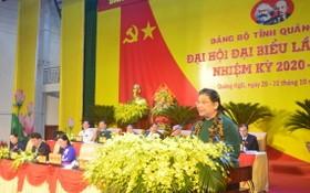 黨中央政治局委員、國會常務副主席從氏放出席大會並發表指導意見。(圖源:人民報)