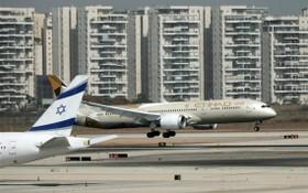 10月20日,阿聯酋代表團抵達以色列。(圖源:新華社)