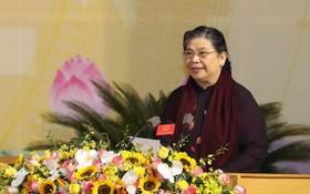 國會常務副主席從氏放在大會上致詞。(圖源:興安報)