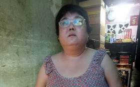 盧玉娟的下腹皮膚嚴重紅腫、 破裂。