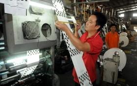 南泰山公司生產塑料包裝一瞥。