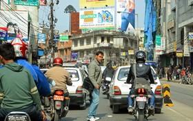 尼泊爾首都加德滿都街道圖片。(圖源:W.B)