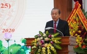 政府常務副總理張和平在大會上致詞。(圖源:政府總監察署)