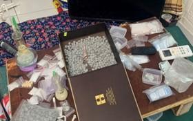 涉案毒品及相關物證。(圖源:VOV)