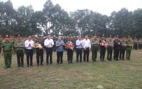 保護隆城機場區域治安小組成立儀式。(圖源:明長)