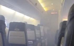 機艙內濃煙密佈。(示意圖源:互聯網)