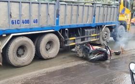 圖為發生在平陽省苡安市的一起交通事故現場。(圖源:楊平)