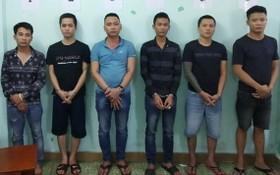 被抓獲的涉案團夥成員。(圖源:警方提供)