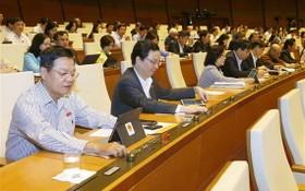 國會代表進行無記名投票。(圖源:越通社)