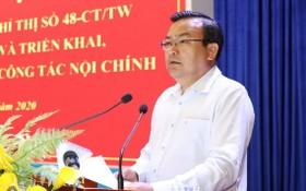 西寧省委常務副書記范雄泰在會上發言。(圖源:西寧報)