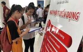 畢業生在各個就業盛會尋找工作機會。