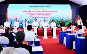 政府總理阮春福出席並按鈕啟動359幹線改建投資項目。(圖源:TTO)