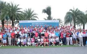 參加第一屆「慈善盃」高爾夫球邀請賽選手合影。