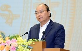 政府總理阮春福在會上發表講話。(圖源:越通社)