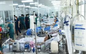 在大水鑊醫院接受治療的病人。