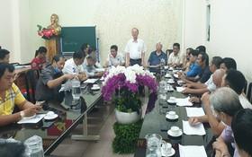市龍獅協會第一屆代表大會籌備會議現場。