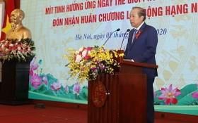 政府常務副總理張和平在會上致詞。(圖源:藍玉)