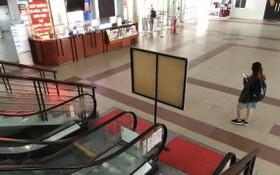 西貢火車站在本月中旬的寂寥景象。