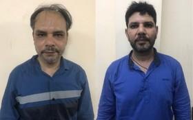 被抓獲的2名外籍劫匪。(圖源:警方提供)