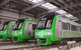 吉靈-河東都市鐵路線將於本月12日至31日期間試運。(圖源:VTV視頻截圖)