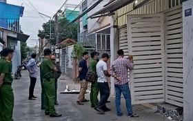 警方在案發地點進行調查取證。(圖源:成名)
