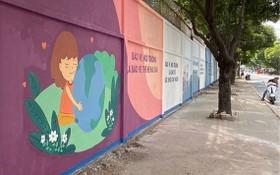 第九郡協富坊的舊牆壁變成宣傳畫。