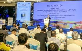 """圖為""""2020年度經濟報告-提高競爭能力取得可持續發展""""公佈儀式現場。(圖源:南香)"""