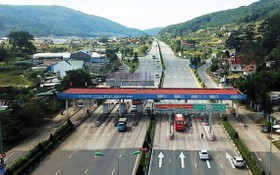 圖為聯姜-普仁高速公路定安自動收費站。(圖源:TTO)