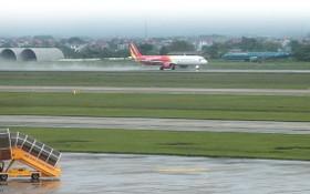 河內市內牌機場若干跑道在升級修築中。(圖源:秋莊)