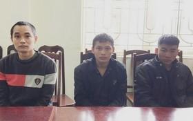 被抓獲的三名涉案嫌犯。(圖源:警方提供)
