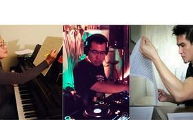 從左到右:音樂家克里斯多福‧王、陳友俊柏、宗室安。