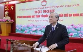 黨中央書記處常務書記陳國旺在會上致詞。(圖源:越通社)