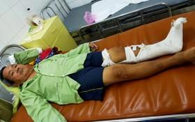 盧濟牛正在阮知方醫院320病 房接受醫治。