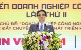 政府副總理武德膽在論壇上致詞。(圖源:蘭芳)