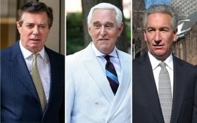 特朗普特赦馬納福特、斯通及查理斯(左起)。(圖源:互聯網)
