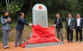 黨中央辦公廳的歷史遺蹟修繕項目揭牌儀式。(圖源:越通社)