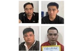 被刑拘的 4 名放高利貸團夥。(圖源:警方提供)