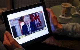 約翰遜發表電視講話,宣佈英格蘭再次實施封鎖。(圖源:路透社)