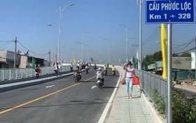 芽皮縣福祿橋於昨(7)日正式通車。(圖源:玲江)