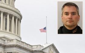美國會山莊為西科尼克(小圖)下半旗致哀。