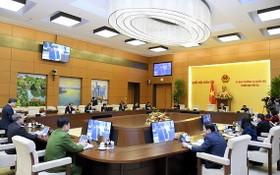 國會常務委員會第五十二次會議現場。(圖源:Quochoi.vn)