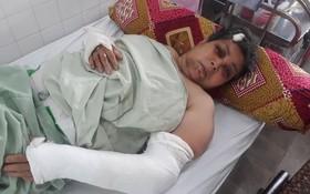 陳月貞摔倒後身體多處受傷。