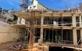施工中的President酒店工程項目造成周邊許多民房發生下陷,存在倒塌危機。(圖源:寶雯)