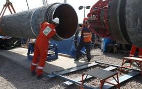 工人在安裝、鋪設管道。(圖源:路透社)